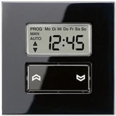 Накладка жалюзийного выключателя Стандарт с таймером Jung LS 990 черная LS5232STSW