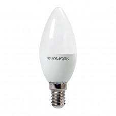 Лампа светодиодная диммируемая Thomson E14 6W 3000K свеча матовая TH-B2151