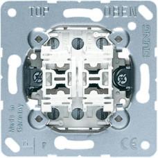 Механизм переключателя 2-клавишного проходного Jung 509U