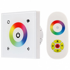 Регулятор цвета RGBW сенсорный встраиваемый с пультом ДУ Arlight Sens LN-082-RGB White (RF,12-24V, 144-288W)
