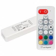 Контроллер-регулятор цвета RGBW с пультом ДУ Arlight ARL-MIN ARL-MINI-RGB-3x4A (5-24V, RF ПДУ 18кн)