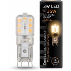 Лампа светодиодная Gauss 1074 G9 3Вт 2700K 107409103