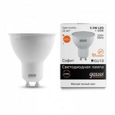 Лампа светодиодная Gauss 13616 GU10 5.5Вт 3000K 13616