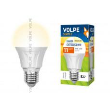 Лампа светодиодная Uniel LED-A60-11W/WW/E27/FR/S с цоколем E27 и мощностью 11 вт. Форма A, матовая колба.Цвет свечения белый.