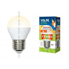 Лампа светодиодная диммируемая Volpe LED-G45-6W/WW/E27/FR/DIM/O