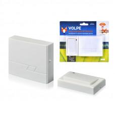 Звонок беспроводной ТМ Volpe UDB-Q020 W-R1T1-16S-30M-WH 16 мелодий. Радиус действия 30 метров. Блистерная упаковка. Цвет-белый